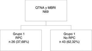 Distribution of patients included in the study. BMIR: bilateral mastectomy with immediate reconstruction; NCT: neoadjuvant chemotherapy; CPR: complete pathological response.