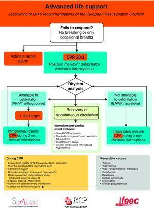 Algorithm of advanced life support in cardiac arrest.