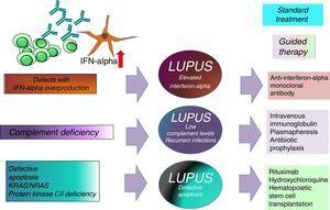 Example of different lupus-like diseases that involve different therapeutic modalities.