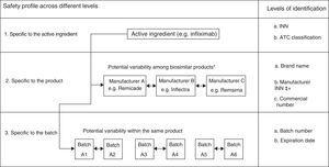 Variability in the safety of biological products beyond the content of the active ingredient. ATC, anatomical therapeutic chemical; INN, international nonproprietary name. *The examples are provided for illustrative purposes. It should be remembered that Remsima and Inflectra are the same product. Modification from Vermeer et al.48