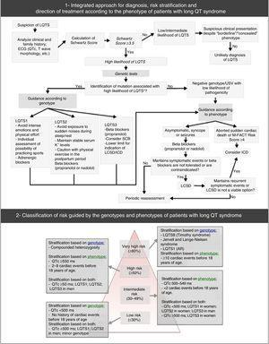 Diagnostic approach, risk stratification and guidance for the treatment of long QT syndrome. USV: undetermined significance variant. Extracted and adapted from Giudessi and Ackerman (2013).70