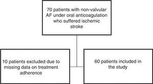 Flowchart of the patient selection process. AF: atrial fibrillation.