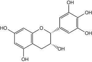 Grupo farmacóforo de los flavanoles.
