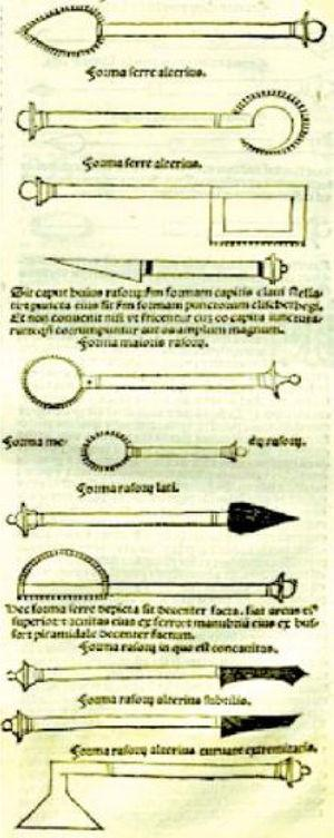 Surgical instruments devised or utilized by Albucasis: 30th volume of Al-Tasrif.