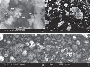 SEM micrographs obtained for ZnO and the prepared nano ZnO coated flfly ash nanocomposites