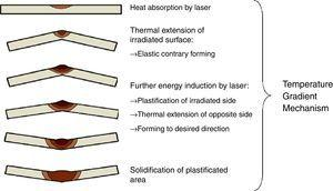 The bending mechanisms of a metal sheet according to MGT [3].