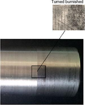 Images of turned and burnished surfaces.