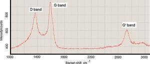 Raman spectra of the characteristic bands of nanofibers and CNTs.