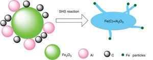 Schematic of the carbon nanostructures growth through SHS reaction.