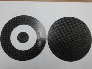 ASTM D4935-99 EMI shielding test specimens.
