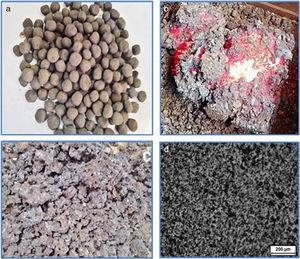 Characterization of the pellets and the sintered product.