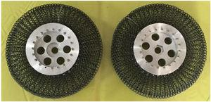 Main-auxiliary spring structure wheel specimen.