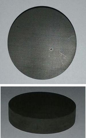 Example of epoxy/quasicrystal samples after machining.