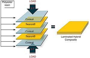 Schematic representation of the hybrid composite preparation.