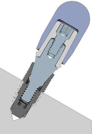 Device used for static compression and fatigue tests.