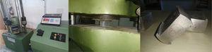Hot pressing of Al6061 heat treated cast specimen in UTM machine.