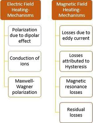 Mechanisms of electric and magnetic field heating.