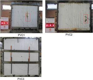 Aspects of loss of integrity for samples PVC.1–3.