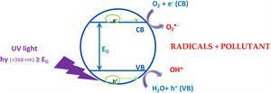 Scheme of the photocatalytic process.