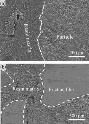 The micro-topography of S-1 surface: (a) before test (І), (b) after test (І).