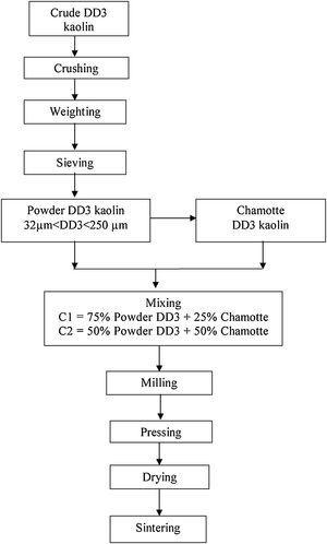 Schematic representation of samples elaboration.