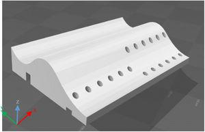 CAD image of the free-form surface.