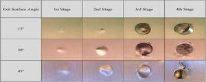 Stages of burr formation (under a spindle speed of 1800rpm and feed rate of 0.1mm/rev).