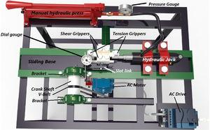 Top view of Multi-axial Cyclic load Machine