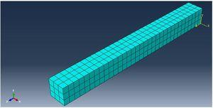 Modeling of strengthened With CFRP sheets.