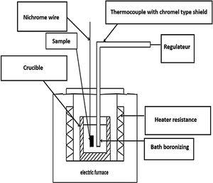 Schematic view of the illustration boriding process via electrochemical cell.