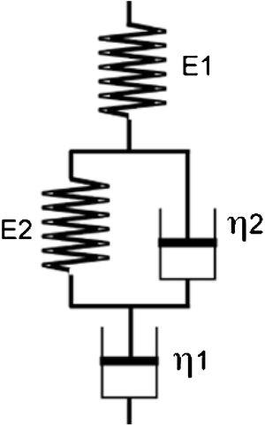 Schematic diagram of Kelvin-Voight model by Wong & Shanks (2008) [52].