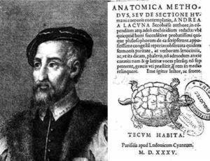 Retrato y obra anatómica de Andrés Laguna (1499-1569).
