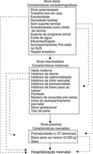 Modelo hierárquico conceitual para internação neonatal.