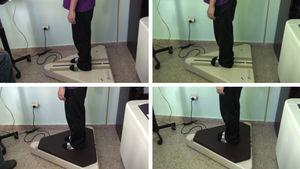 Assessment of static balance with feet apart and feet together without foam, and feet apart and feet together with foam using the Metitur Good Balance force platform.