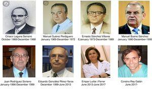 Editors-in-chief of Anales Españoles de Pediatría and Anales de Pediatría. Photographs obtained from the Internet, with the knowledge of the pertinent individuals, especially from www.bancodeimagenesmedicina.com.