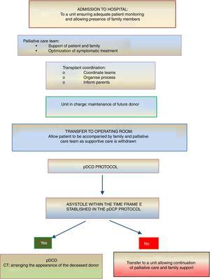 Summary of the process of pDCD in children receiving palliative care at home.4,5