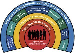 Model of the social determinants of health of the World Health Organization.