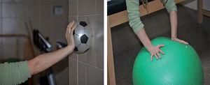 – Propiocepción. El trabajo con la pelota coactiva los flexores y extensores de los dedos y de la muñeca al tiempo que coordina los movimientos de la misma.