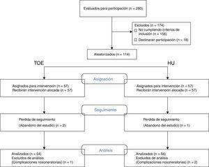 Diagrama de flujo de pacientes en el estudio.
