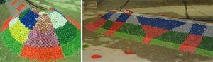 Modelo I «morro», vista del morro bicapa y de la transición monocapa-bicapa de cubípodos de 24 t. Fuente: GEAMA (UDC).