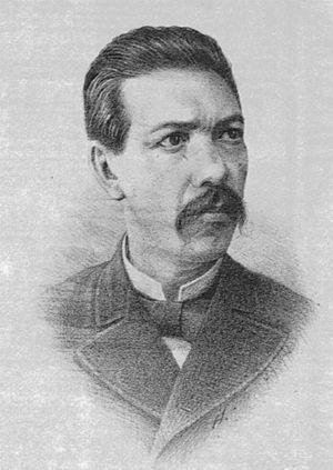 Dr. Eduardo Liceaga y Torres, head of the ward for sick children at the San Andres Hospital and first director of the Children's Hospital. The School of Medicine, 1883.