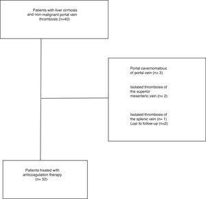Flow chart of enrolment of patients.