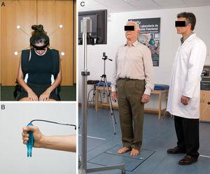 Images corresponding to the biomechanical assessment protocol with the NedCervical/IBV (A), NedMano/IBV (B) and NedSVE/IBV (C) systems, respectively.