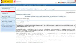 Informative note from the Spanish Agency of Medicines and Medical Devices.