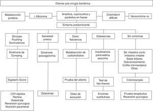 Algorithm for the management of diarrhea after bariatric surgery.
