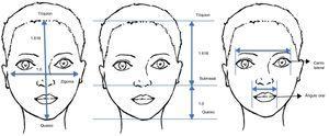 Medidas e proporções. Pontos anatômicos, medidas e proporções que são usados para análise facial.