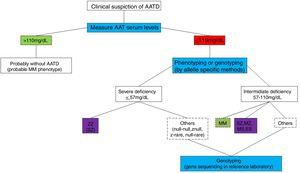 AATD diagnostic algorithm.