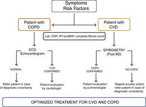 Proposed evaluation algorithm for CVD in stable COPD.