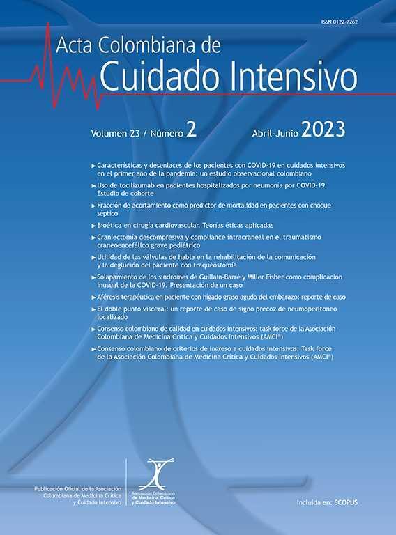 Acta Colombiana de Cuidado Intensivo