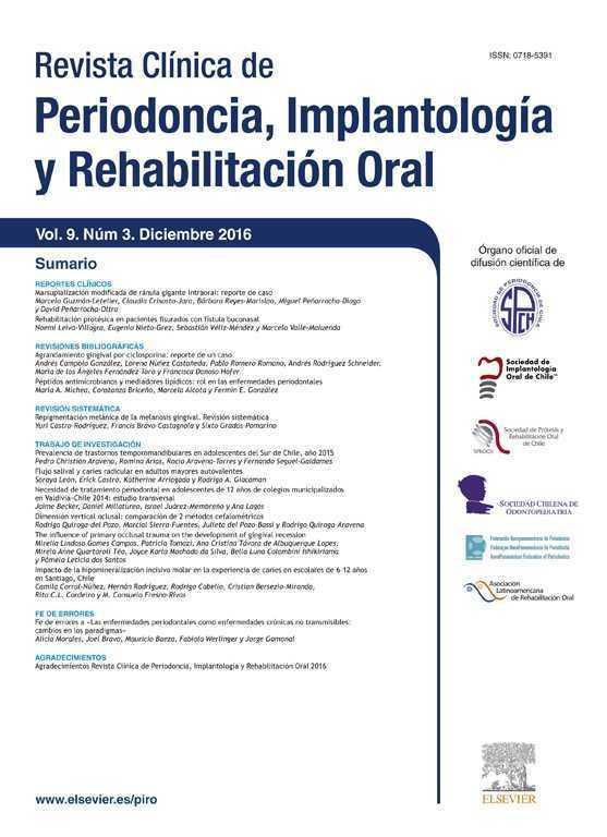 Revista Clínica de Periodoncia, Implantología y Rehabilitación Oral